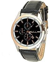 Townsman Chronograph Smooth Pu Leather Belt Watch Classic Casual New Fashion Men's Calendar Wrist Watch