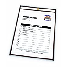 C-Line Stitched Shop Ticket Holders, 8.5 x 11 Inches, Both Sides Clear, 25 per Box (46911)