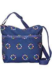 LeSportsac Small Cleo Crossbody Hobo Bag Happy Hearts