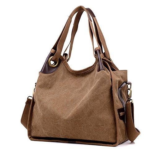 Da Wu Jia donna elegante Borsetta tracolla retrò tote bag borsa messenger in tela , viola