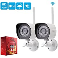 2-Pack Zmodo 720p HD Outdoor IP Camera Home Wireless Security Camera System