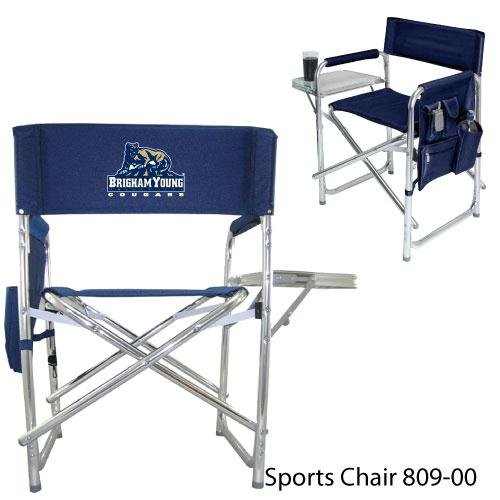 Brigham Young Cougars NCAA Sports Chair (Navy) (Digital Print Logo)