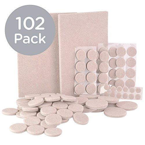 homedone-felt-pads-102-piece-floor-protectors-heavy-duty-oatmeal