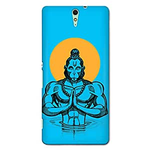 CrazyInk Premium 3D Back Cover for SONY C5 ULTRA - Hanuman Vector
