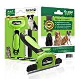 #1 SPECIAL !!!! GranPaws Dog Grooming Pet Supplies Deshedding Tool or Shedding Brush for Small, Medium & Large Dogs & Cats, Rabbits or Horses. 1 SIZE 4 All YOUR PETS 100% UNBREAKABLE GTD - A Unique Gift Basket Idea for All Men-Women & Teen Pet Owners
