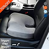 *Experts recommend* Coccyx Cushion #1 Seat Cushion Chair Car Seat Cushion Sciatica Cushion Low Back Pain Tailbone Cushion for Home Office Car Travel (Grey)