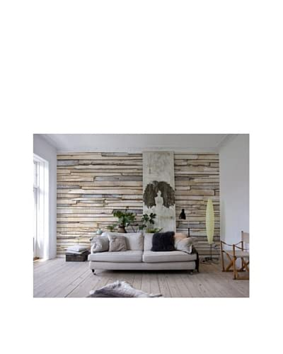 Brewster Whitewashed Wood Wall Mural