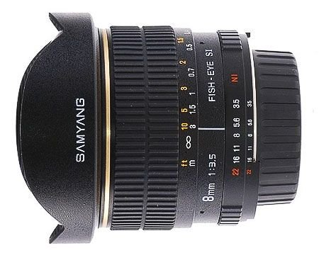 Samyang 8 mm Fisheye F3.5 Manual Focus Lens for 4 Thirds