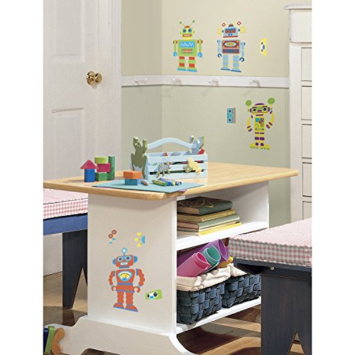 Roommates Rmk1120Scs Build Your Own Robot Peel & Stick Wall Decals front-1022931