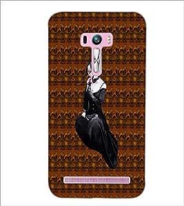 PrintDhaba Black Angel D-5643 Back Case Cover for ASUS ZENFONE SELFIE ZD551KL ULTRA (Multi-Coloured)