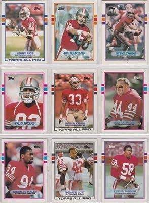 San Francisco 49ers 1989 Topps Football Team Set w/ Traded Cards (Super Bowl Champions) (Joe Montana) (Steve Young) (Tom Rathman Rookie) (Jerry Rice) (Roger Craig) (Ronnie Lott) (Charles Haley) (Ray Wershing)