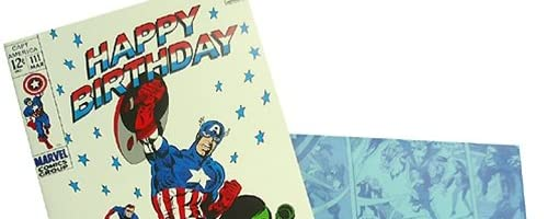 MARVEL COMICS《キャプテンアメリカ/Birthday(お誕生日お祝い)》グリーティングカード☆アメコミキャラクターグッズ通販☆