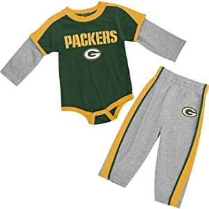 Green Bay Packers born Long Sleeve Creeper & Pant Set from NFL Brand
