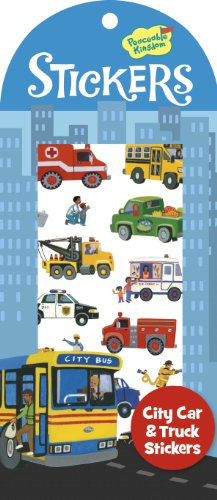 Peaceable Kingdom City Car and Truck Sticker Pack