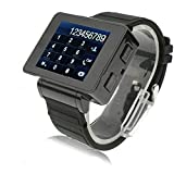 Newsunshine Black I1 Unlocked Watch Mobile Phone Quad Band Touch Screen Watch Phone 1.8 inch Torch 1 SIM GSM Mp3 Mp4