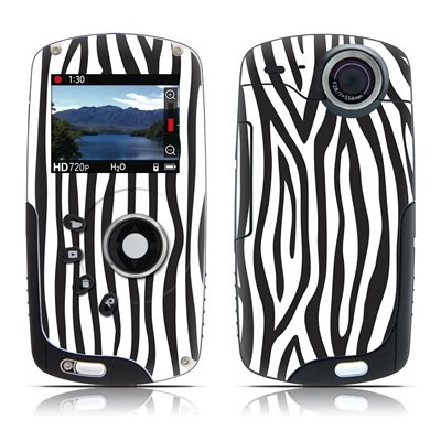 Zebra Stripes Design Protective Skin Decal Sticker for Kodak PlaySport Zx3 HD Pocket Video Camera Camcorder