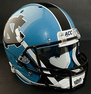 NORTH CAROLINA TAR HEELS Schutt AiR XP Authentic GAMEDAY Football Helmet UNC (BLUE... by ON-FIELD