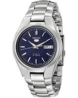 Seiko snk603k 1-5 Gent's Automatic Watch analogue watch, Blue Dial Steel Bracelet, Grey
