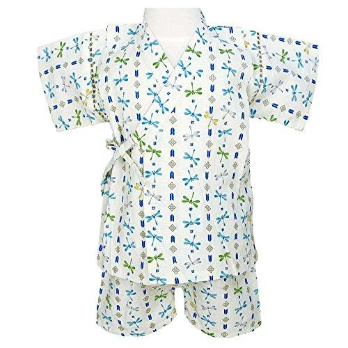 アスナロ(甚平) 甚平 男の子 子供 じんべい ベビー 日本製生地 和服 ロンパース120 アイボリー