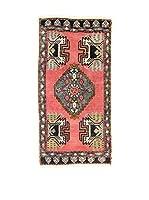 L'EDEN DEL TAPPETO Alfombra Yastik Rojo/Negro 52 x 100 cm