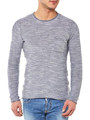 Antony Morato Pullover Uomo Maglione Sweater Slim Fit Blu Marine (Col. 7029) XXL
