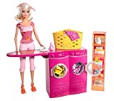Barbie -Barbie houses and accessories -T7182 Barbie - Laundry room and Barbie doll set