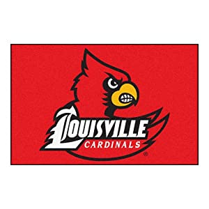 Buy FANMATS NCAA University of Louisville Cardinals Nylon Face Starter Rug by Fanmats