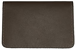 Brown Leather Top Stub Checkbook Cover