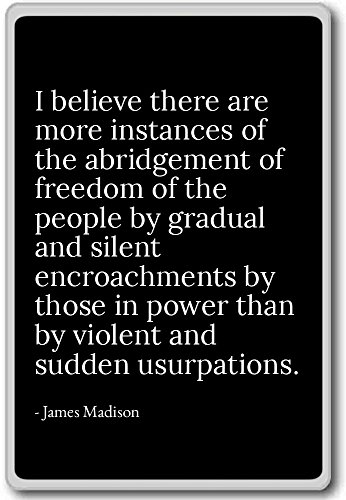 I believe there are more instances of the abr... - James Madison - quotes fridge magnet, Black (Abr Fridge compare prices)
