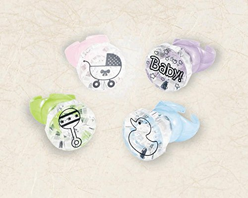 "Amscan Delightful Light-Up Rings Baby Shower Party Novelty Favors, 1-3/16 x 1-1/2"", Multi - 1"