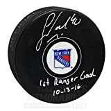 Michael Grabner New York Rangers Signed Autographed 1st Goal Inscribed Puck