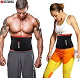 Waist Trimmer Ab Belt for Faster Weight Loss. Includes FREE Fully Adjustable Impact Resistant Smartphone Sleeve for iPhone 7 and iPhone 7 Plus