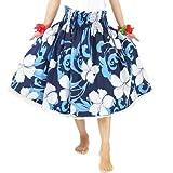 ■JA44145 フラ シングル パウスカート ネイビーブルー×ホワイト  フラダンス 衣装 フラダンス ドレス フラダンス スカート フラ ドレス フラ 衣装 フラダンス パニエ フラ ハワイ ムームー スカ-ト ダンス衣装 dance