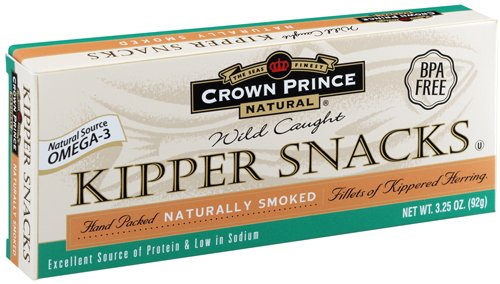 Crown Prince Natural Kipper Snacks - Low in Sodium, 3.25 Ounce Cans (Pack of 18)