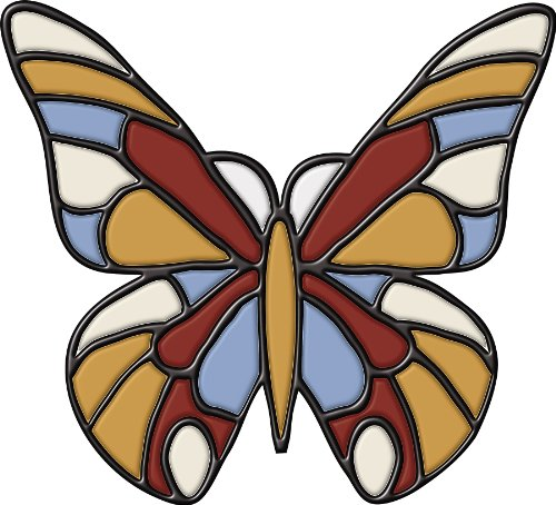 Wall Pops Stained Glass Butterfly