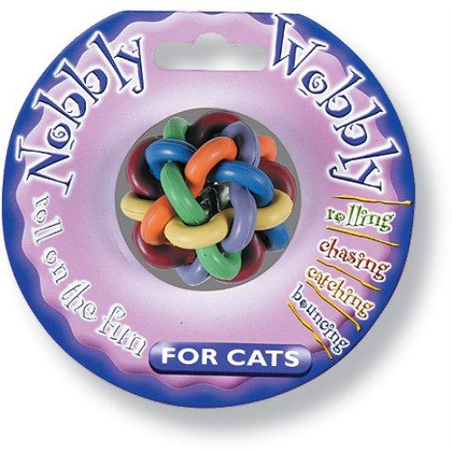 Nobbly Wobby bunter Spielball für Katzen