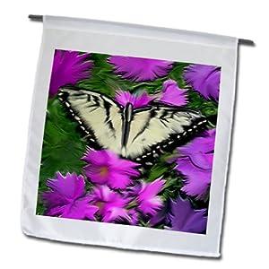 3dRose fl_3966_1 Butterfly, Garden Flag, 12 by 18-Inch