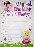 Pack of 20 Children's Birthday Party Sheet Invites with Envelopes - Fairy Princess