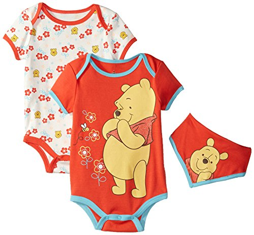 Disney Baby-Girls Winnie The Pooh Bodysuits and Bib