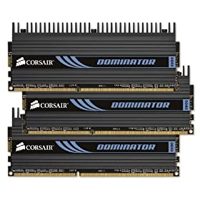 Corsair TR3X6G1600C7D Dominator 6 GB PC3-12800 1600 MHz 240-pin Triple Channel DDR3 Memory Kit