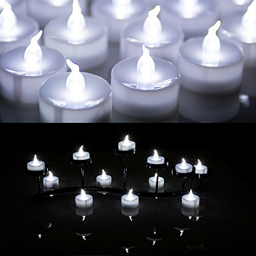 AGPtek® 24 PCS LED Tealights Battery-Operated flameless Candles Lights For Wedding Birthday Party - White