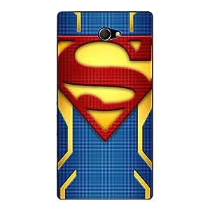 Jugaaduu Superheroes Superman Back Cover Case For Sony Xperia M2
