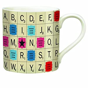 Wild and Wolf Scrabble Tile Mug by Keena