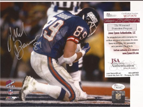 Mark Bavaro New York Giants Signed Horizontal 8x10 Photo JSA COA #w373470 at Amazon.com