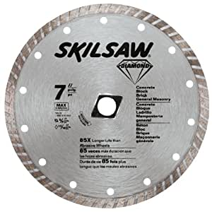 SKIL 79510 7-Inch Turbo Rim Diamond Saw Blade with 5/8-Inch or Diamond Knockout Arbor for Masonry
