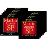 12 Sets of Martin MSP4100 SP Phosphor Bronze Light Acoustic Strings