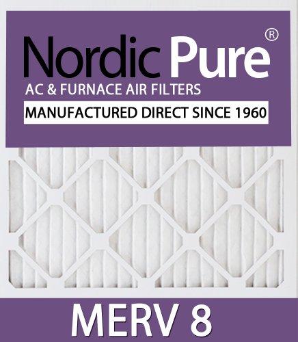 Nordic Pure 14x20x1M8-12 MERV 8 Pleated AC Furnace Air Filter, 14x20x1, Box of 12