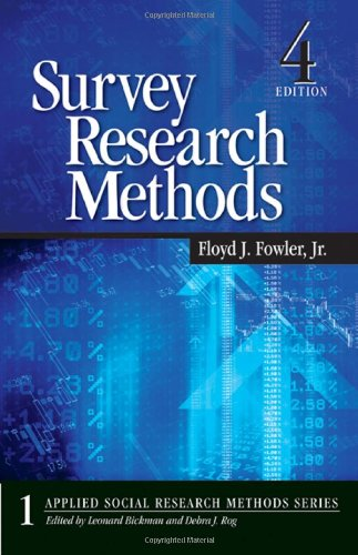 Survey Research Methods (Applied Social Research Methods...