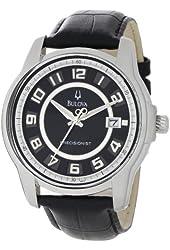 Bulova Men's 96B127 Precisionist Claremont Black Leather Watch