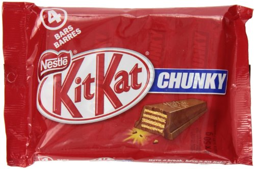 Kit Kat Milk Chocolate Chunky, 4 x 50gm Multipack
